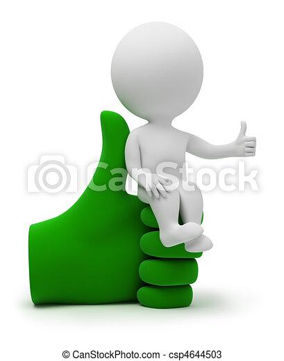 pessoas, poltrona, -, pequeno, 3d, fresco - csp4644503
