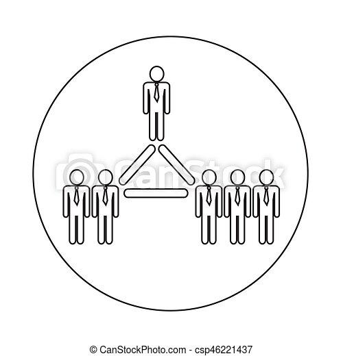 pessoas, rede, ícone - csp46221437