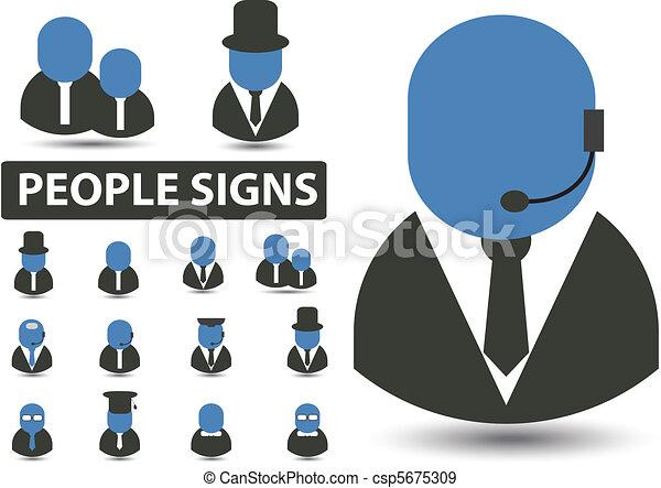 pessoas, sinais - csp5675309