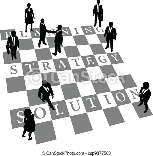 pessoas, solução, estratégia, planificação, xadrez, human - csp9377563