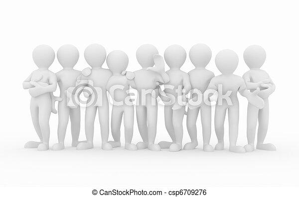 pessoas., teamwork., grupo, friendship. - csp6709276