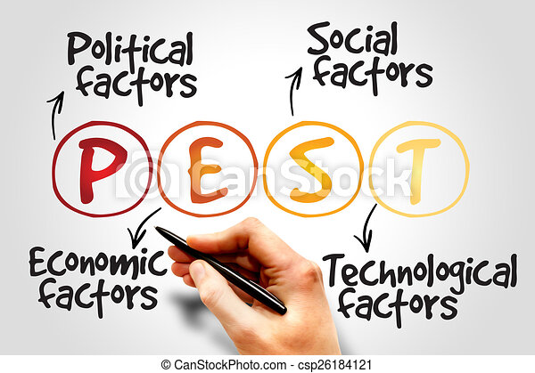 Pest Analysis Strategy For Business Presentation Website  Clip