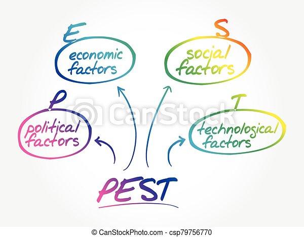 PEST analysis mind map - csp79756770