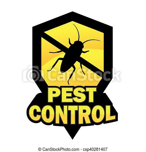 Pest control logo - csp40281407