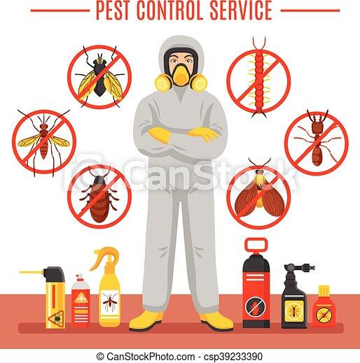 Pest Control Service Illustration - csp39233390