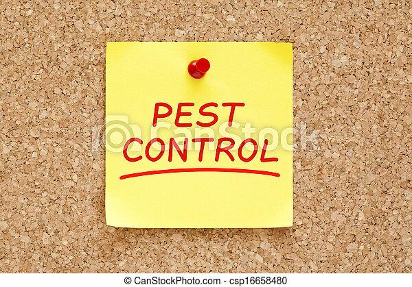 Pest Control Sticky Note - csp16658480