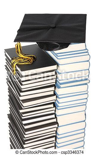 pet, boekjes , afgestudeerd - csp3346374