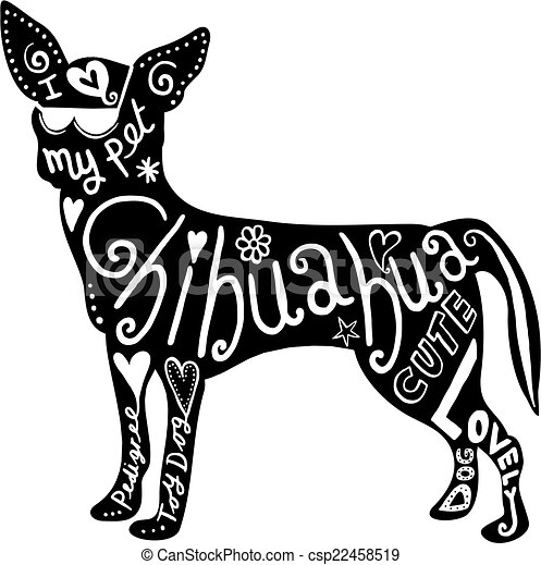 pet chihuahua dog hand drawn illustration of a chihuahua clipart rh canstockphoto com christmas chihuahua clipart chihuahua clipart images