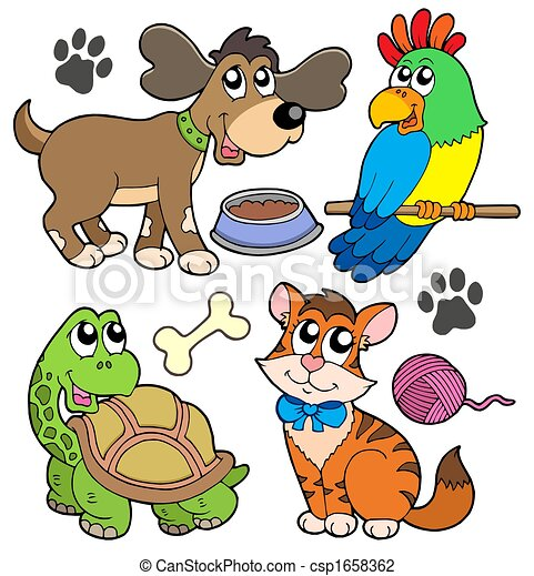 pet collection isolated illustration clip art search rh canstockphoto com free clipart pet food free pet clipart