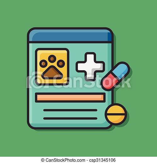 pet drug icon - csp31345106
