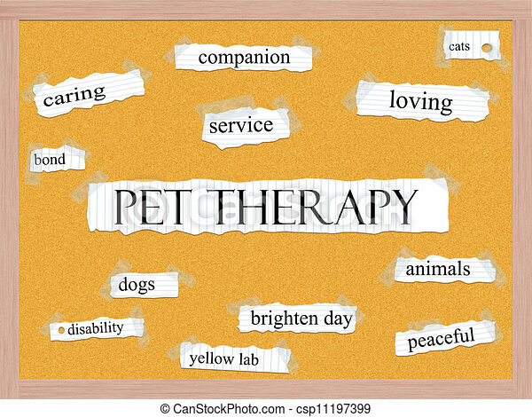 Pet Therapy Corkboard Word Concept - csp11197399