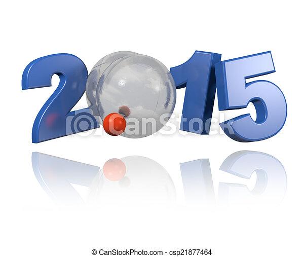 Petanque 2015 design - csp21877464