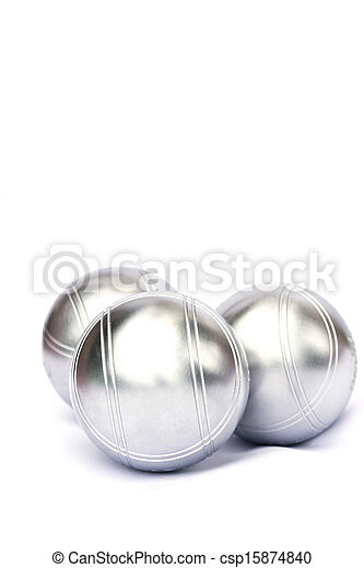 Petanque on white background - csp15874840