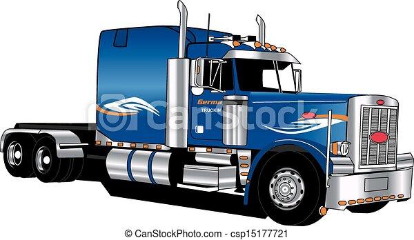 Peterbilt semi tractor solamente - csp15177721
