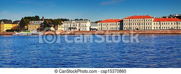 Petersburg. Vasilyevsky Island in summer day - csp15370860
