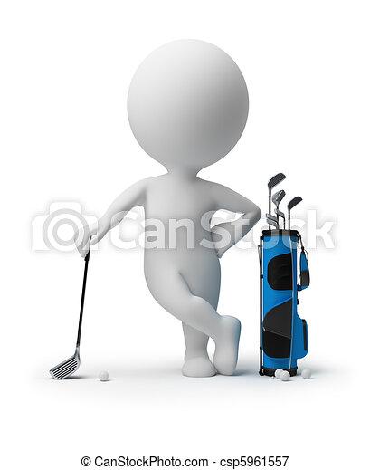 petit, -, 3d, golf, gens - csp5961557