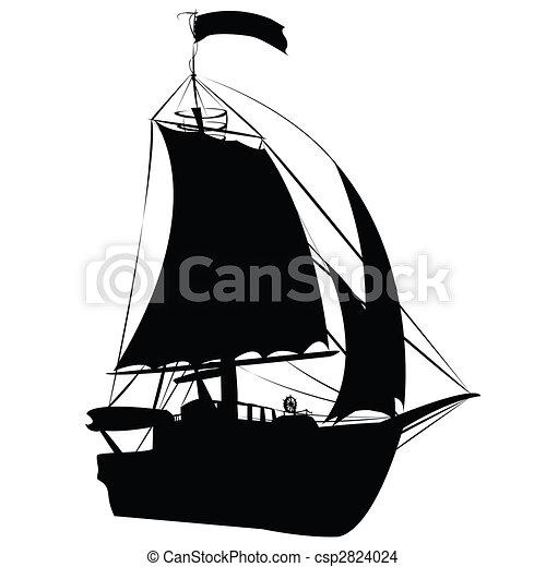 Petit bateau voile dessiner silhouette voile isol dessin rechercher des - Dessin petit bateau ...