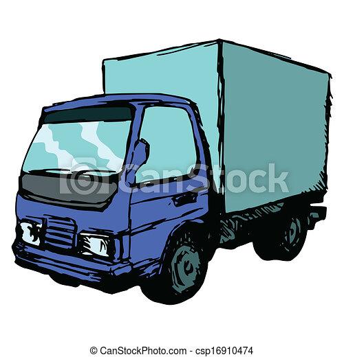 petit, camion - csp16910474