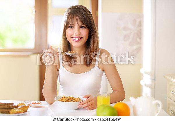 petit déjeuner sain - csp24156491