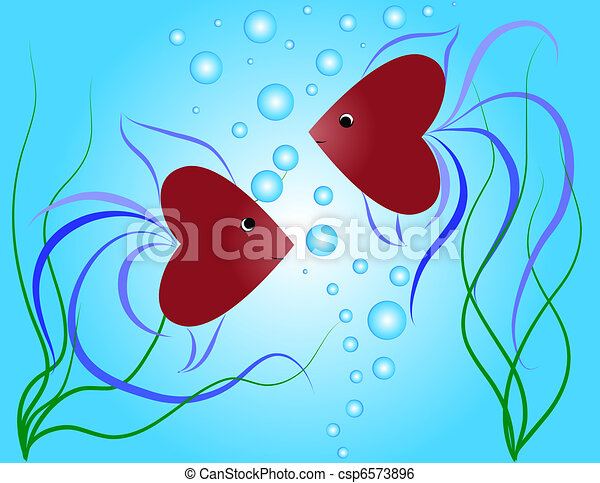 petit, fishes-hearts - csp6573896