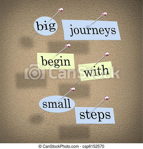 petit, grand, commencer, étapes, voyages - csp6152570