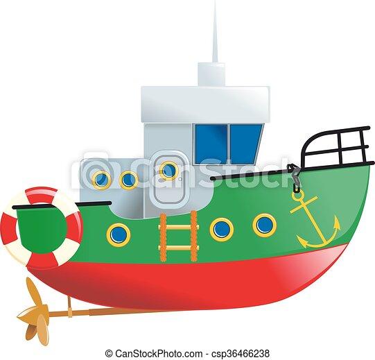petit, mignon, bateau - csp36466238