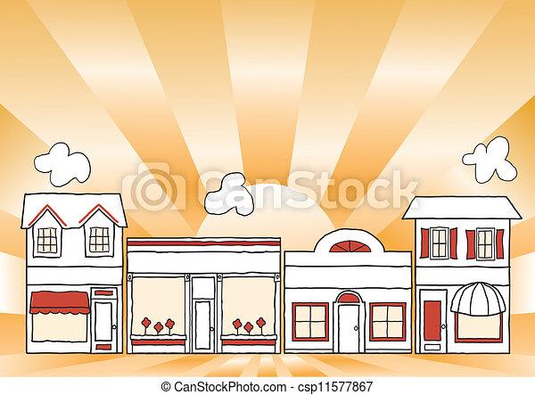 petit, rue principale, business - csp11577867