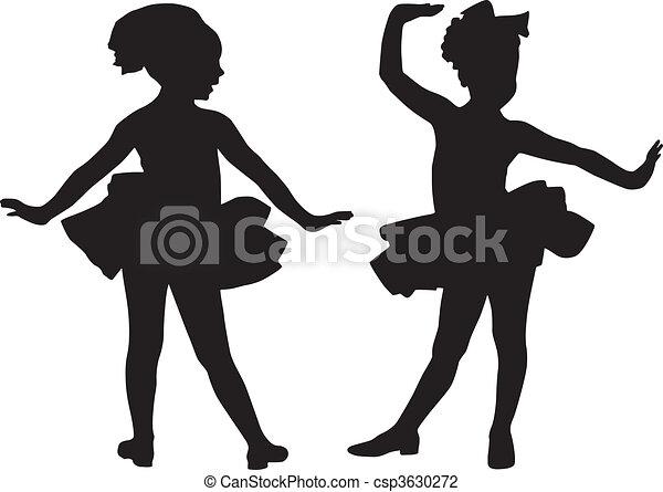 petit, silhouette, amis - csp3630272