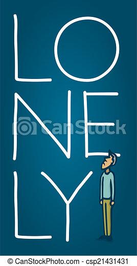 petit, solitaire, sentiment, homme - csp21431431