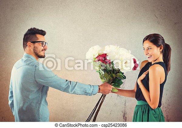 petite amie, petit ami - csp25423086