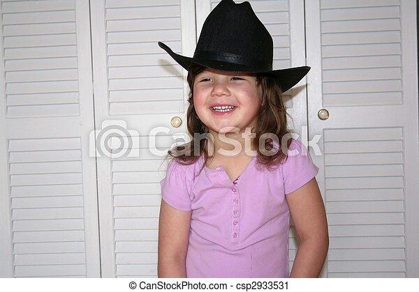 petite fille, joli - csp2933531