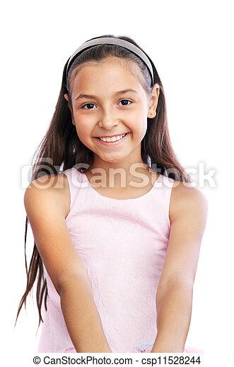 petite fille, joli - csp11528244