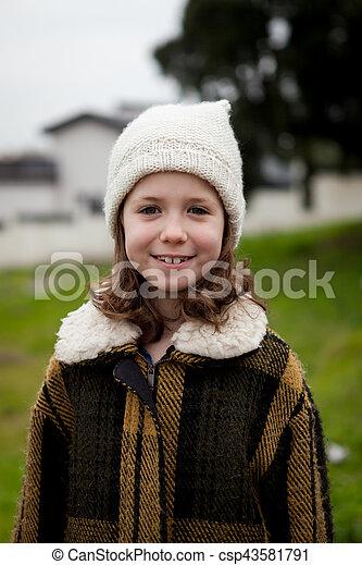 petite fille, joli - csp43581791