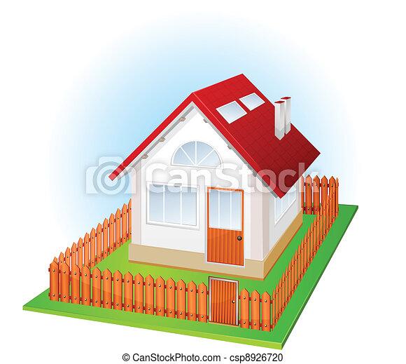 petite maison, barrière - csp8926720