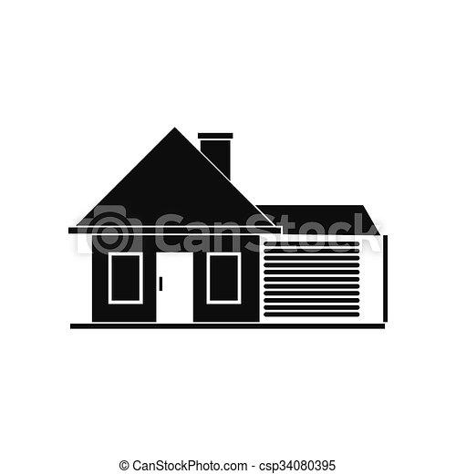 Petite Maison Garage Icne Simple Garage Petite Maison