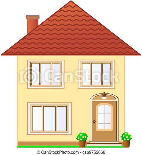 Grenier Petite Maison Isol tage Deux Illustration De Stock