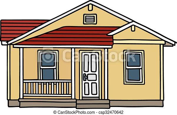 petite maison, jaune - csp32470642
