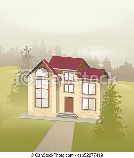 Petite Maison, Pierre, Moderne, Forêt