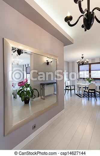 petite maison, vibrant, énorme, -, miroir - csp14627144