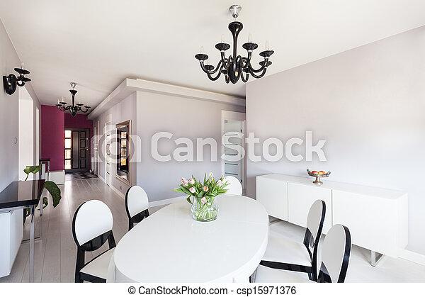 petite maison, vibrant, clair, intérieur, - - csp15971376