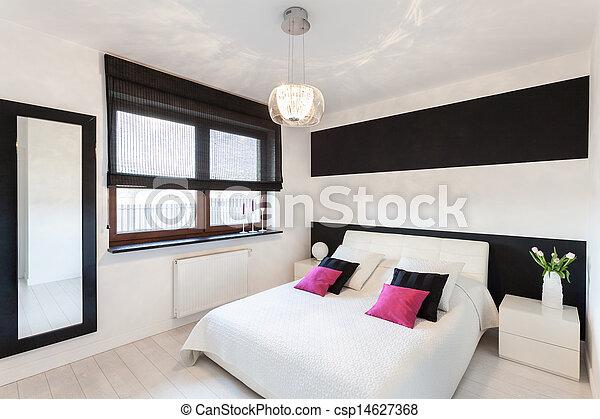 petite maison, vibrant, moderne, -, chambre à coucher