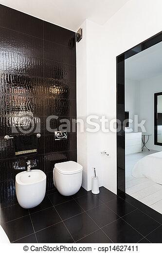 petite maison, vibrant, salle bains, intérieur, - - csp14627411