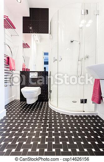 petite maison, vibrant, salle bains, intérieur, - - csp14626156