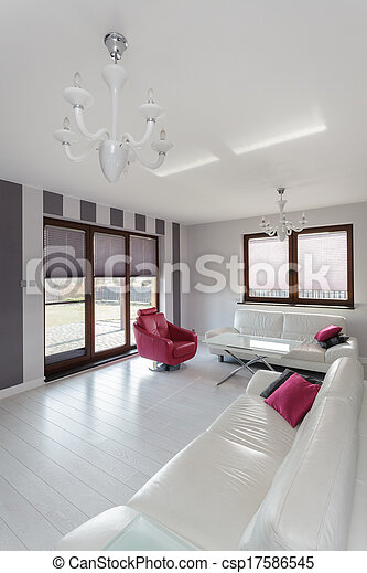 petite maison, vibrant, -, salle, vivant - csp17586545