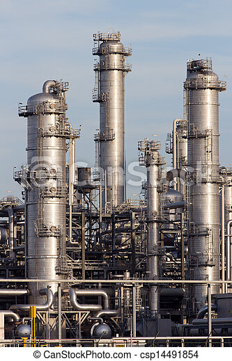 petrochemical industrial plant  - csp14491854