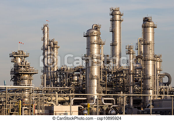 petrochemical industrial plant - csp10895924