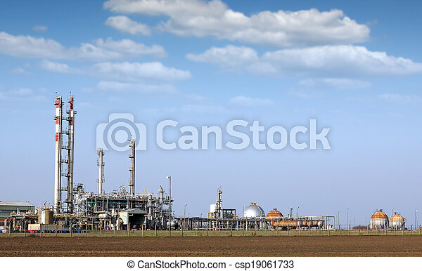 petrochemical plant and tanks industry zone - csp19061733