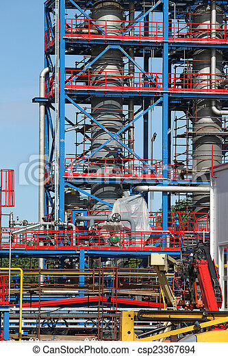 petrochemical plant construction site industry background