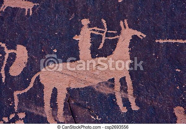 Petroglyphs at Newspaper Rock, Indian Creek, Utah - csp2693556