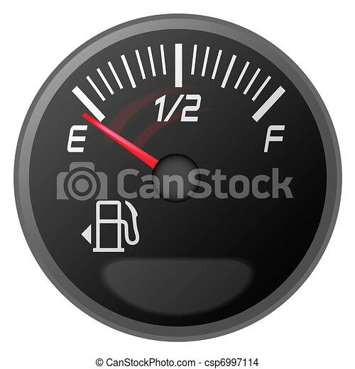petrol meter, fuel gauge - csp6997114